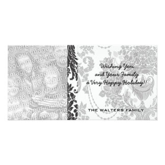damask roses white and black.ai card