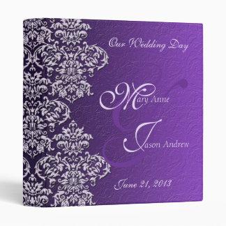 Damask Royal Purple Wedding Binder