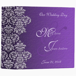 Damask Royal Purple Wedding Binder