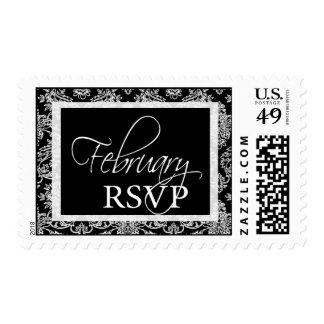 Damask RSVP February Event Postage