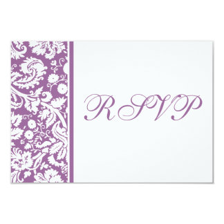 Damask RSVP Multipack Template -Choose your colors