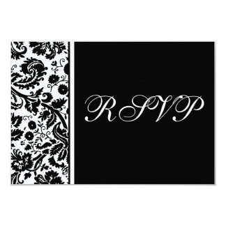 Damask RSVP Multipack Template -Choose your colors 3.5x5 Paper Invitation Card