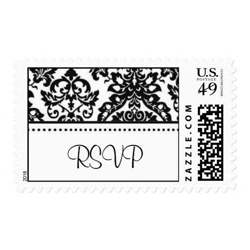 Damask RSVP Stamps