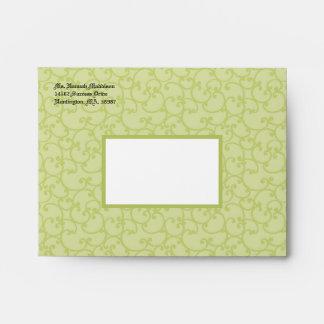 Damask Sage Green A2 Envelopes
