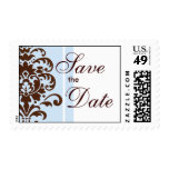 Damask Save The Date - Customized Postage Stamp