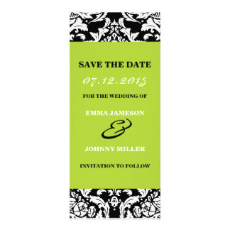 Damask Save the Date Personalized Invites
