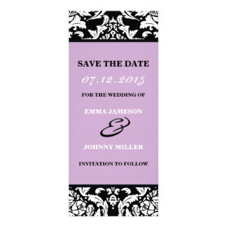 Damask Save the Date Invite