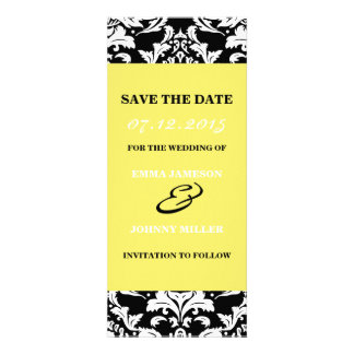 Damask Save the Date Custom Announcement