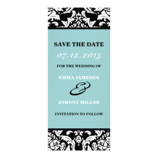 Damask Save the Date Custom Invitation