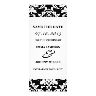 Damask Save the Date Invitation