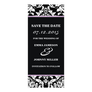 Damask Save the Date Invites