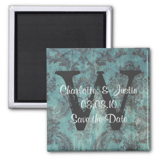 damask; save the date magnets