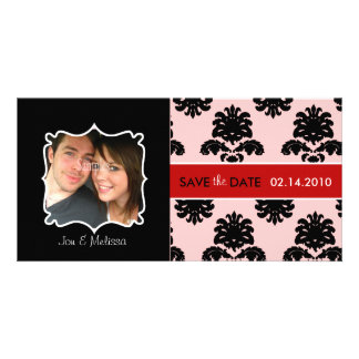 Damask Save the Date photo cards