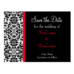 Damask Save the Date Post Cards
