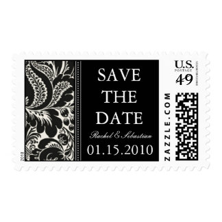 DAMASK SAVE THE DATE STAMP