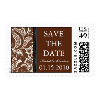 DAMASK SAVE THE DATE STAMPS