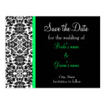 Damask Save the Date Postcards