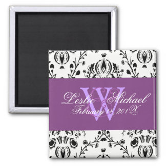 Damask Save the Date Wedding, Magnets