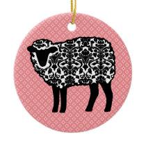 Damask Sheep Ceramic Ornament