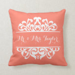 Damask Signature DIY CHOOSE YOUR BACKGROUND COLOR Pillows
