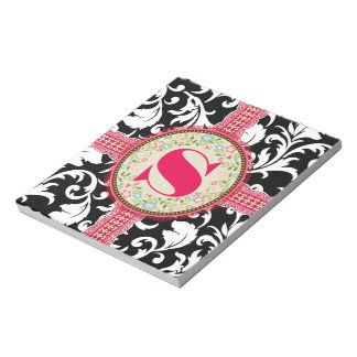 Damask SoapBox Pink Ribbon Notepad