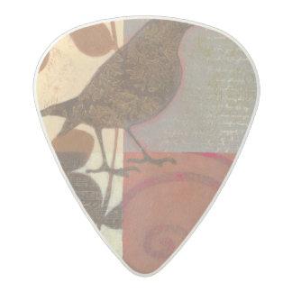 Damask Sparrow Acetal Guitar Pick