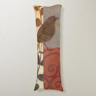 Damask Sparrow Body Pillow