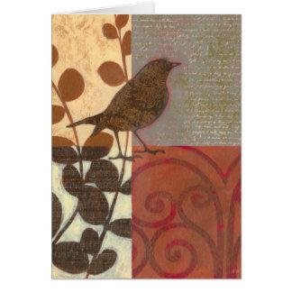 Damask Sparrow Card