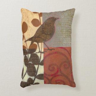 Damask Sparrow Decorative Pillow
