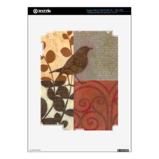 Damask Sparrow iPad 3 Decals
