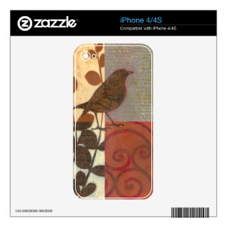 Damask Sparrow iPhone 4S Decal