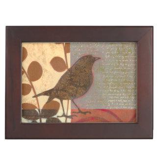 Damask Sparrow Keepsake Box