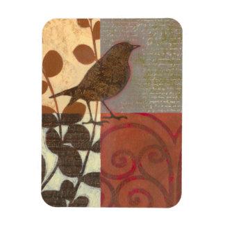 Damask Sparrow Rectangular Photo Magnet