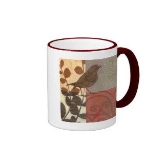 Damask Sparrow Ringer Mug