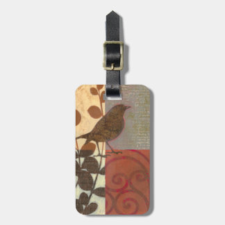 Damask Sparrow Tag For Luggage