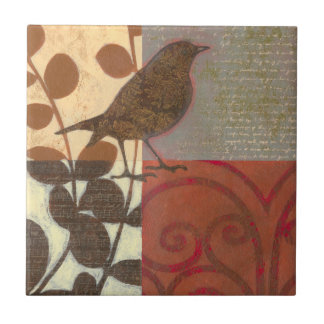 Damask Sparrow Tile