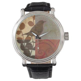 Damask Sparrow Wristwatch
