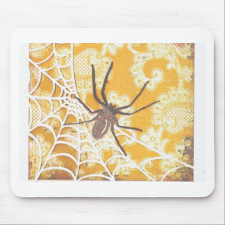 Damask Spider Halloween Mouse Pad