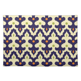 Damask Spring arabesque Moroccan pattern girly Placemat