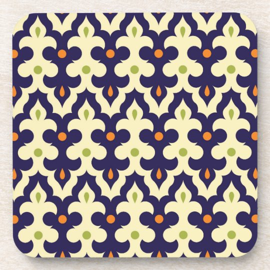 Damask Spring arabesque Moroccan pattern preppy Coaster