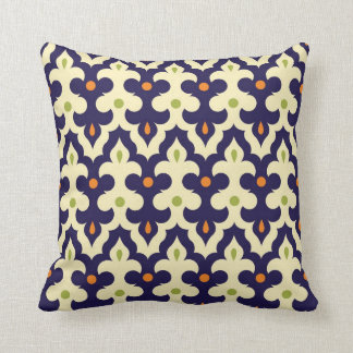 Damask Spring arabesque Moroccan pattern preppy Throw Pillow