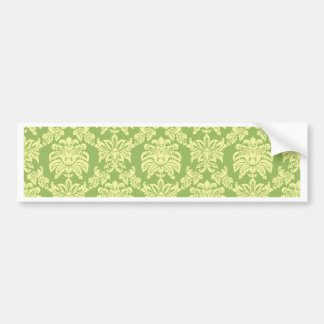 Damask - Spring Green Bumper Stickers