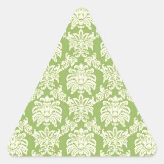 Damask - Spring Green Triangle Sticker