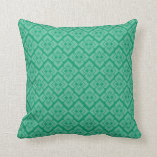 Damask spring mint green toned pillow