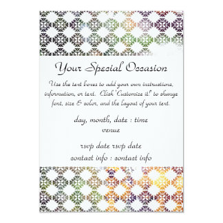 Damask Spring Yellow Berries 5x7 Paper Invitation Card