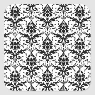 Damask Square Stickers