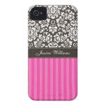 Damask & Stripes iPhone 4 Case