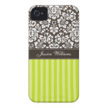 Damask & Stripes iPhone 4 Case-Mate Case