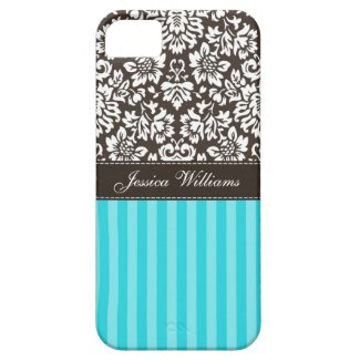Damask & Stripes Iphone 5 Cases