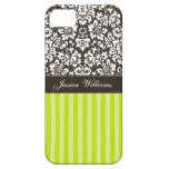 Damask & Stripes iPhone 5 Cover